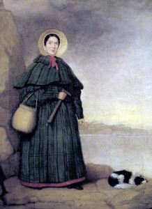 Mary Anning with her dog Tray.